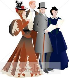 Carolers book art pinterest. Caroling clipart outdoor