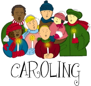 Christmas west park civic. Caroling clipart outdoor