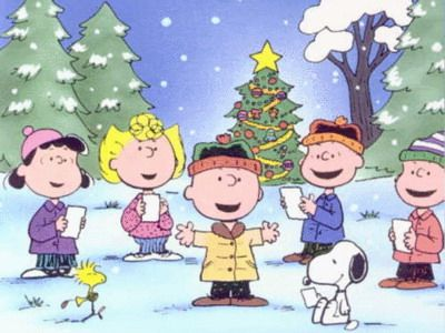 Tyler has never been. Caroling clipart peanuts christmas