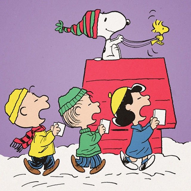 Caroling clipart peanuts christmas.  best gang winter