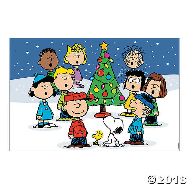 Caroling clipart peanuts christmas. Backdrop