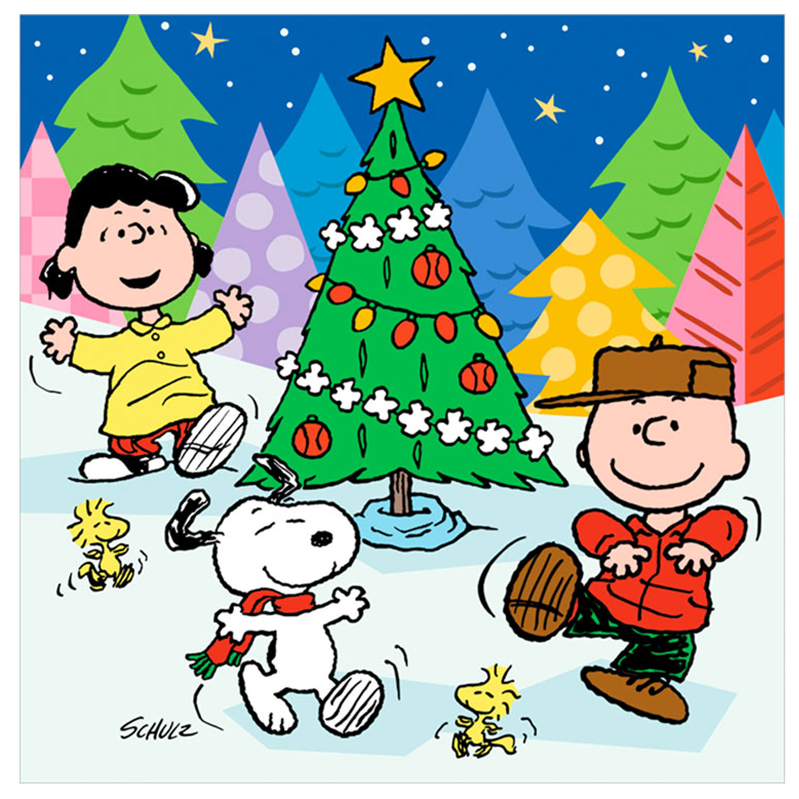 Caroling clipart peanuts christmas. My favorite things about