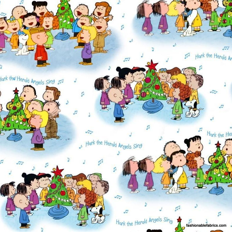 Time character on white. Caroling clipart peanuts christmas