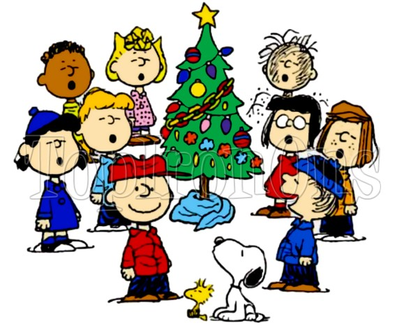 Coloring page charlie brown. Caroling clipart peanuts christmas