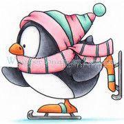 Hermanos beakerson fimo christmas. Caroling clipart penguin