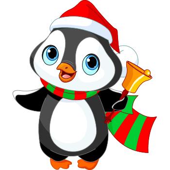 Symbols emoticons . Caroling clipart penguin