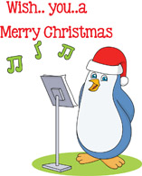 Caroling clipart penguin. Search results for clip