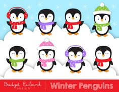 Caroling clipart penguin. Vector of a happy