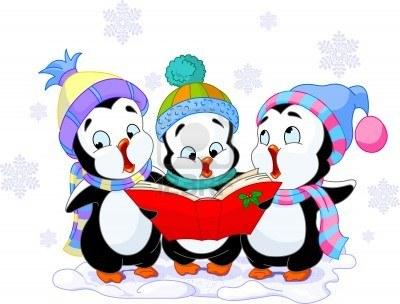 Caroling clipart penguin. Carol panda free images