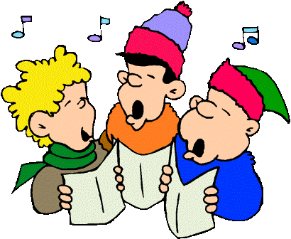 Christmas carol accompaniments the. Caroling clipart performance
