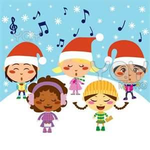 Caroling clipart performance. Puerto banus christmas carols