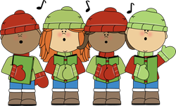 Caroling clipart preschool. Christmas concert idea ideas