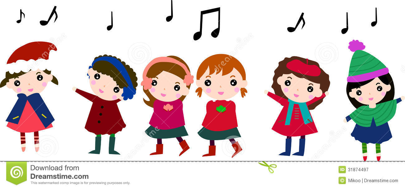 Caroling clipart preschool. Carolling clip art for