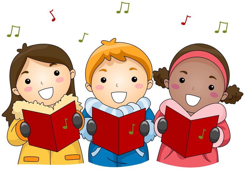 Caroling clipart preschool. Learn french by singing