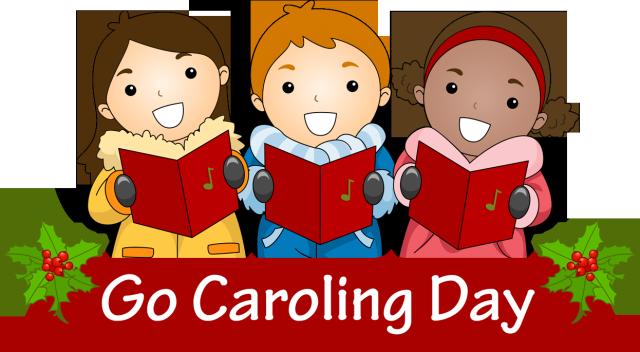 Clip art for cele. Caroling clipart preschool
