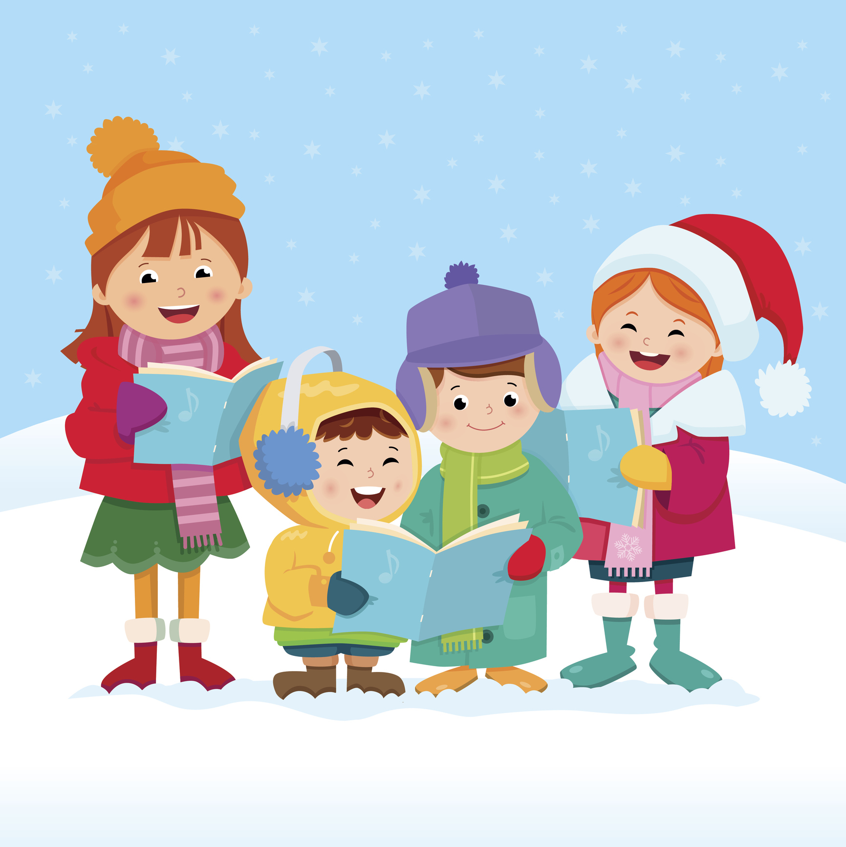 Caroling clipart religious. The history of favorite