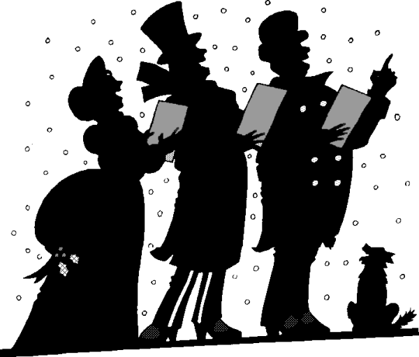 Free carolers public domain. Caroling clipart religious