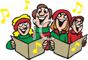 Picture a group of. Caroling clipart religious