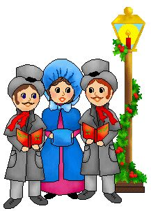 Caroling clipart repertoire. People singing christmas carols