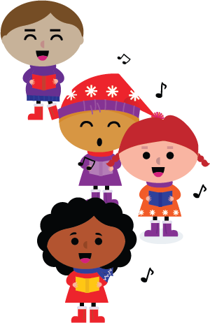 Merrick festival competition coral. Caroling clipart school