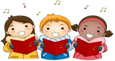 Woodside school district holiday. Caroling clipart senior