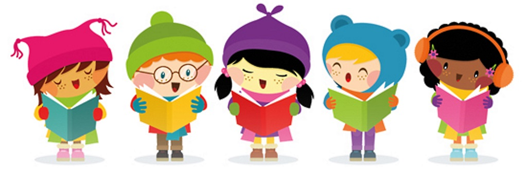 Here we come a. Caroling clipart senior