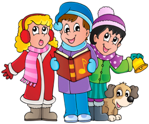 Caroling clipart singing christmas tree. Kids for children at