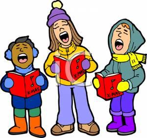 Caroling clipart singingclip. Children singing christmas carols