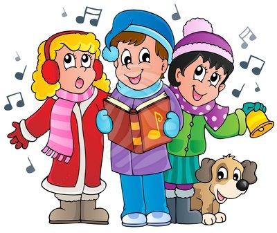 Ez english christmas carols. Caroling clipart singingclip