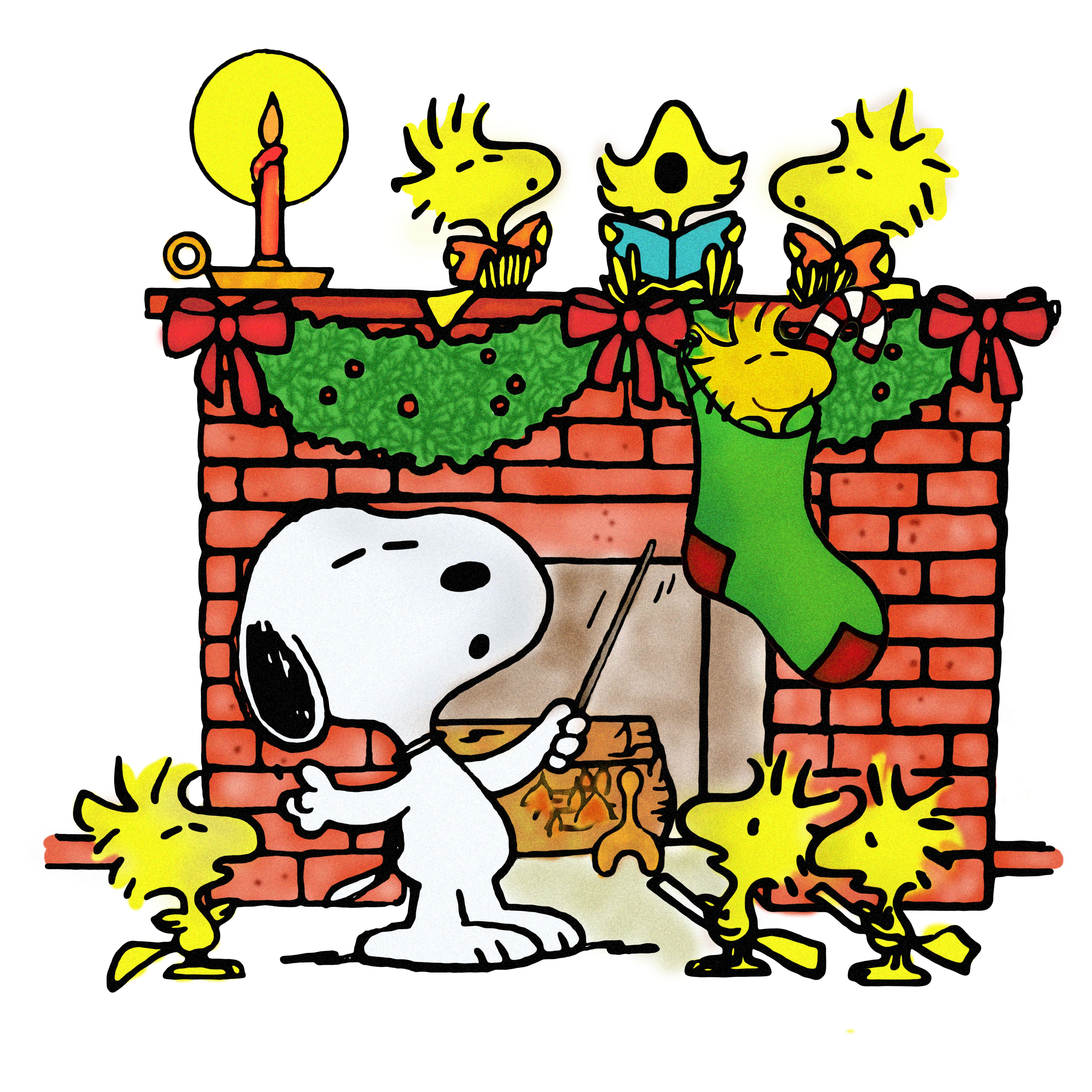 Caroling clipart snoopy christmas. And woodstock singing carols