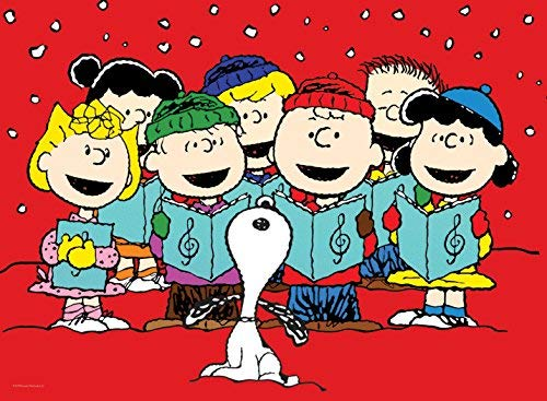 Ceaco carolers puzzle . Caroling clipart snoopy christmas