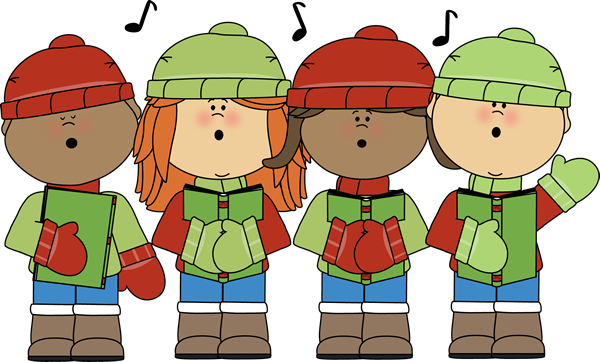 timeless christmas songs. Caroling clipart song