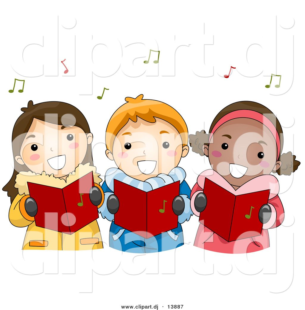 Clip art kids singing. Clipart christmas song