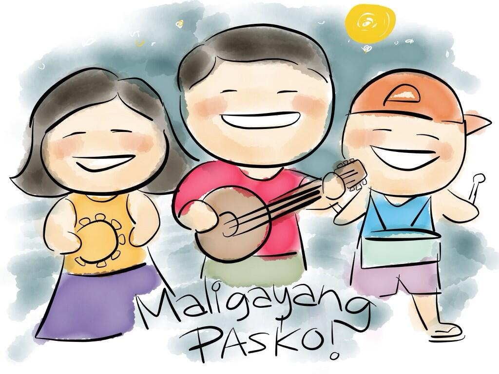 Maligayang pasko frustrashow is. Caroling clipart tradition