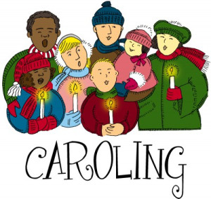 Caroling clipart tradition. Christmas to shut ins