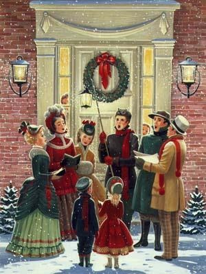 Caroling clipart tradition.  best christmas images