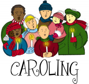 Christmas to shut ins. Caroling clipart tradition