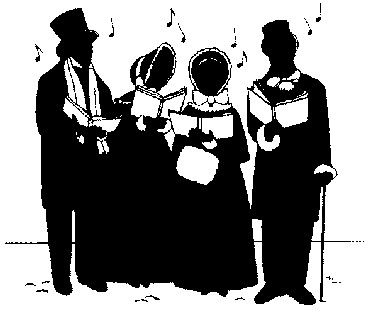 Christmas carolers clip art. Caroling clipart victorian