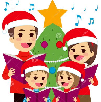 Berrima christmas carols residents. Caroling clipart village