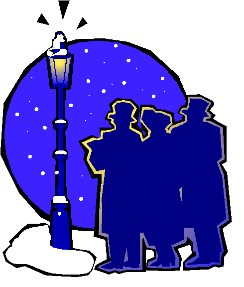 Caroling clipart village. Christmas at liberty p