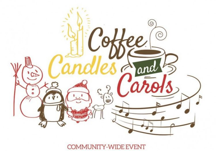 Caroling clipart village. Join the church for