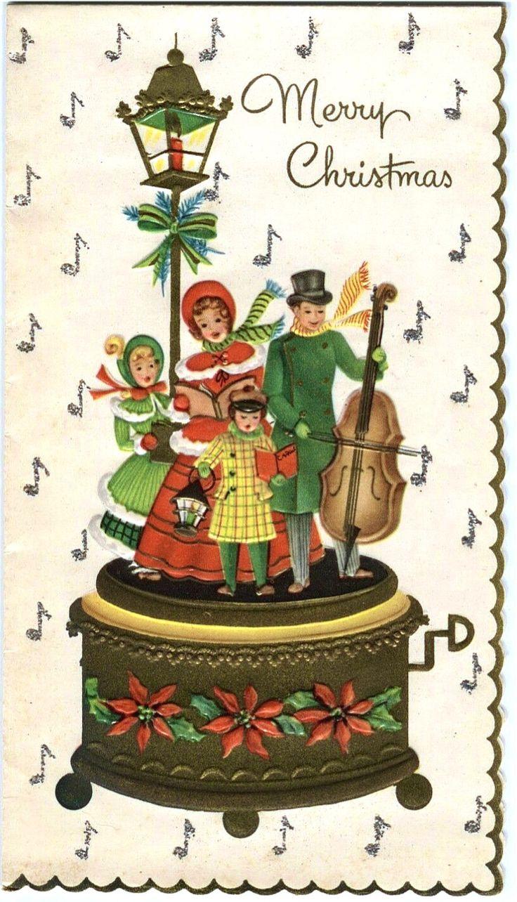 Caroling clipart vintage.  best christmas carolers
