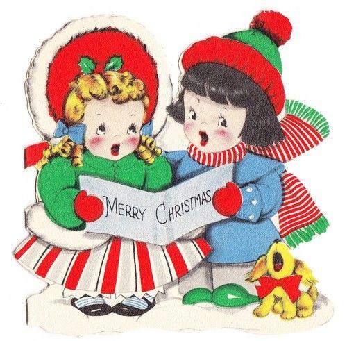 best christmas carolers. Caroling clipart vintage