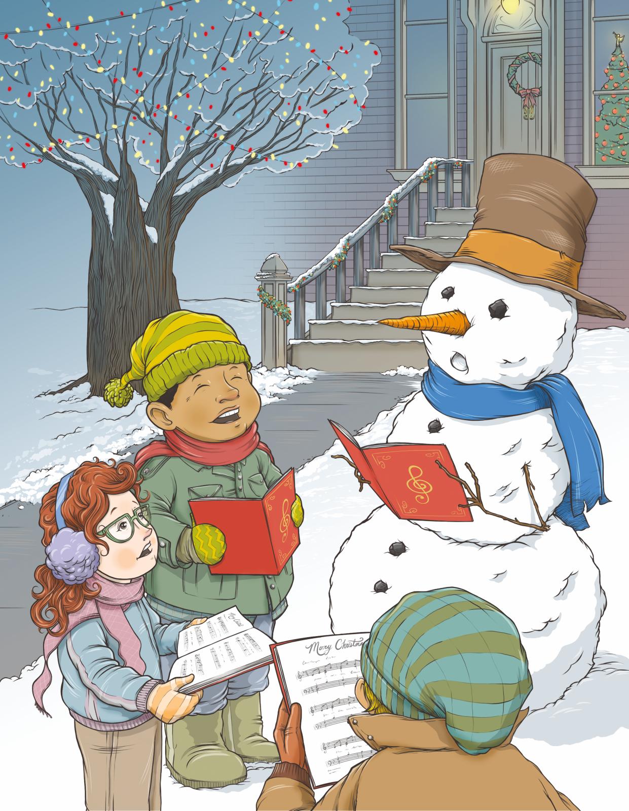 Caroling clipart winter. Christmas share