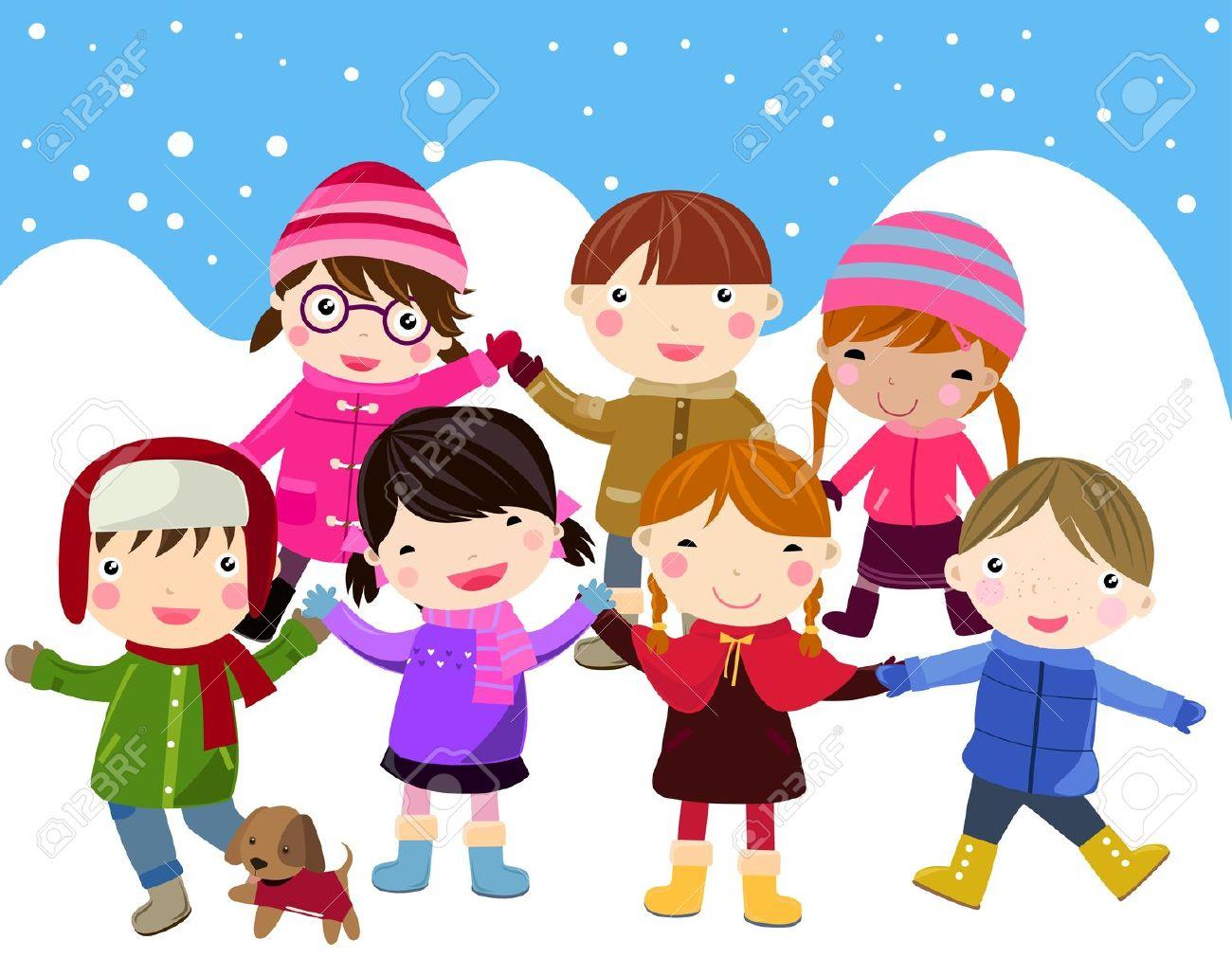 Fun . Caroling clipart winter