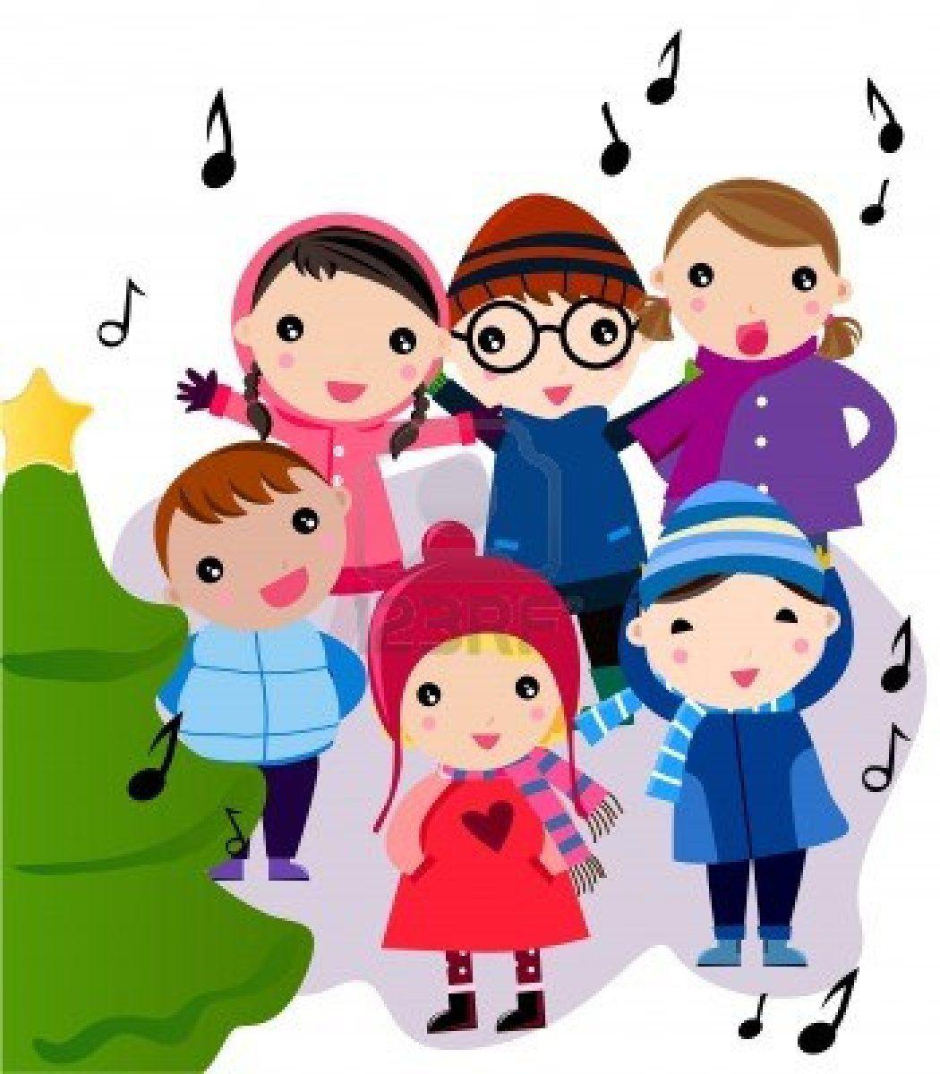 Caroling clipart winter. Christmas carols