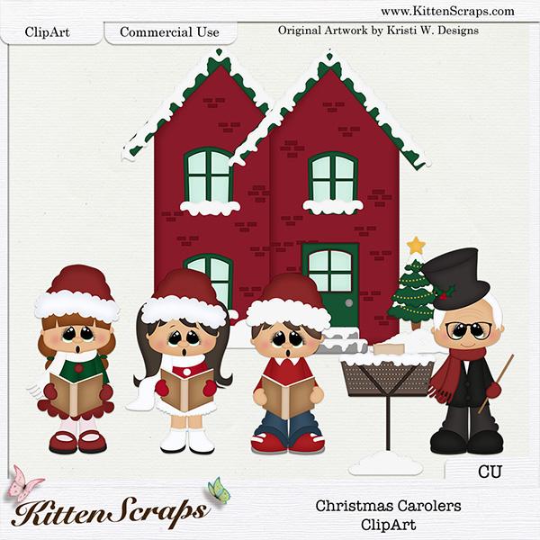 Christmas carolers cu ks. Caroling clipart winter