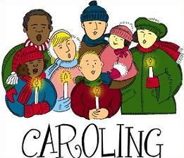 Caroling clipart. Free christmas carolers