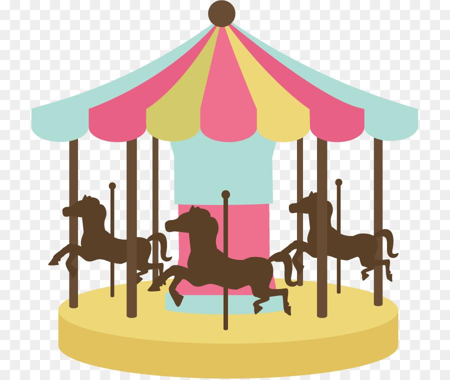 Carousel clipart. Horse amusement ride clip