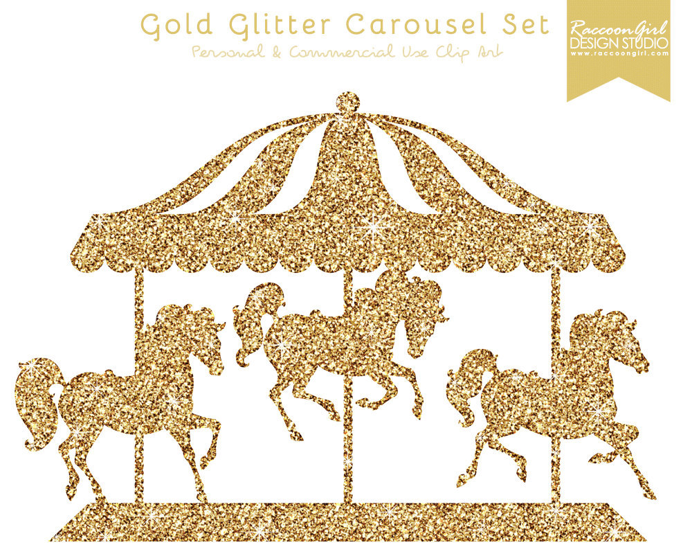 Carousel clipart. Digital art for all